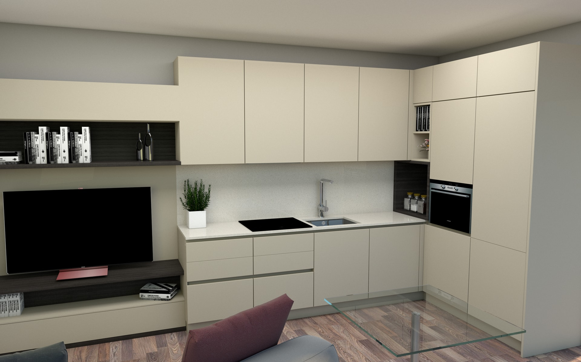 Alessandro Cesana SketchUp V-Ray render cucina