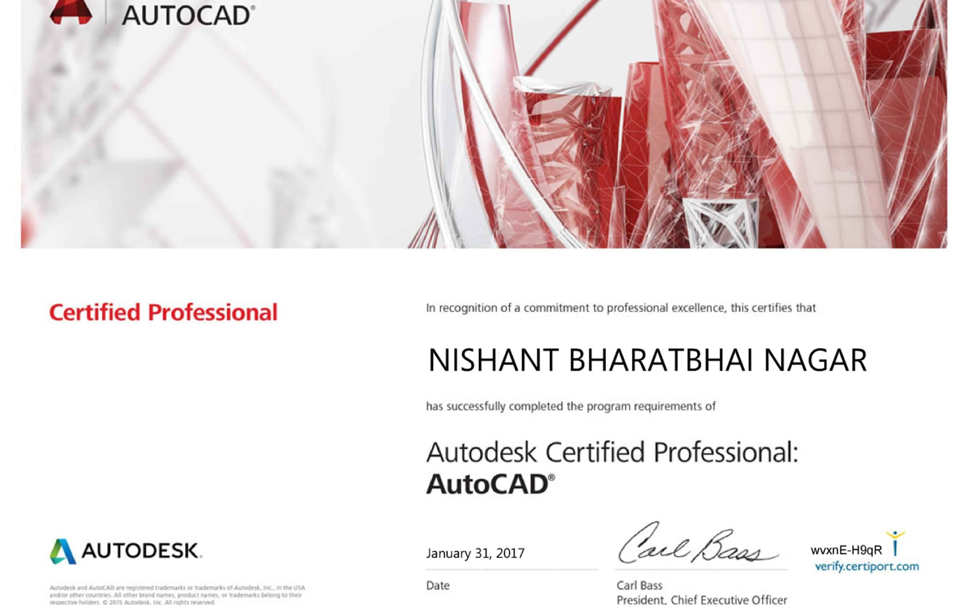 AutoCAD Certified Professional   01
