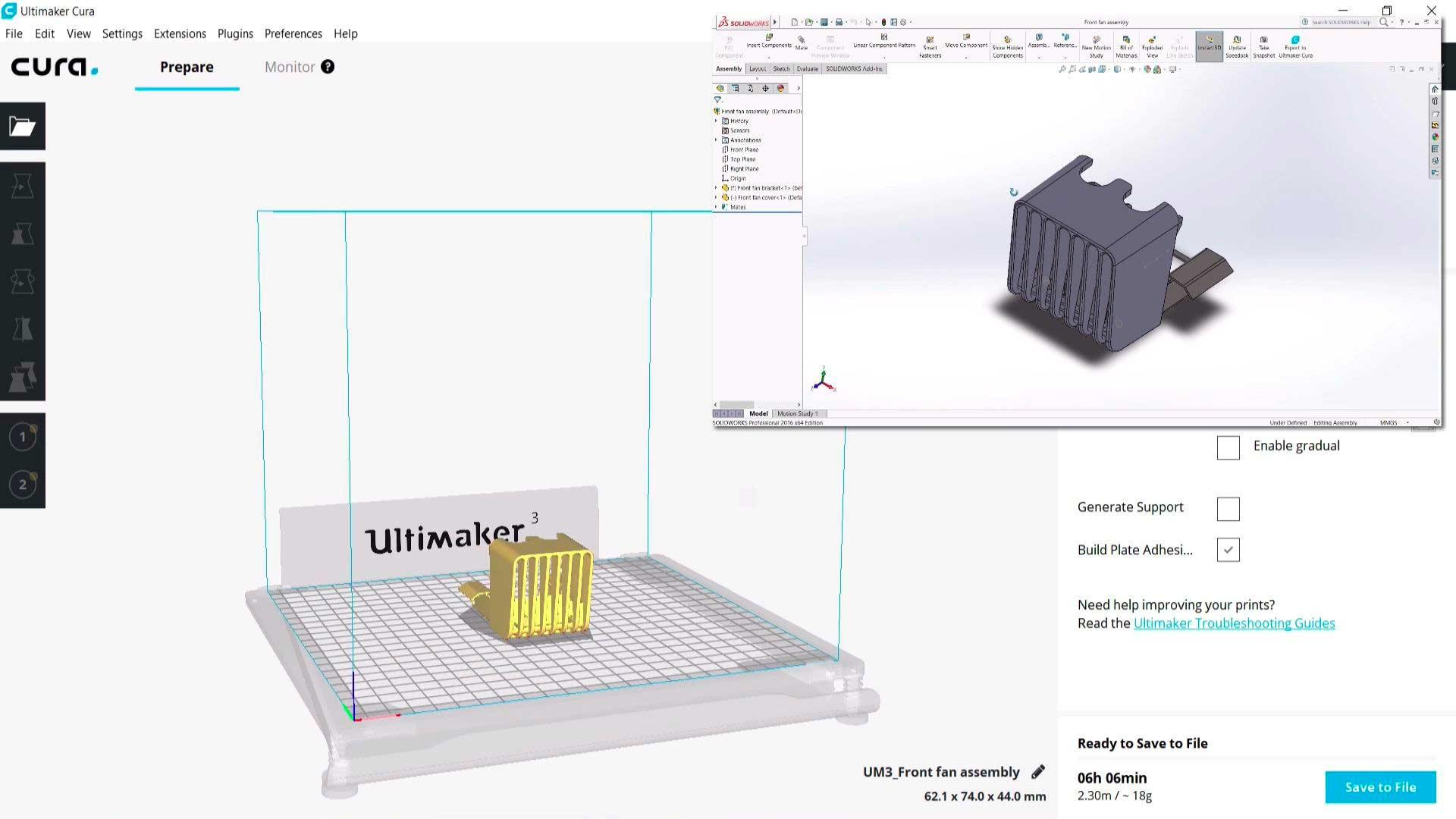 Integrazione Cura SolidWorks 011
